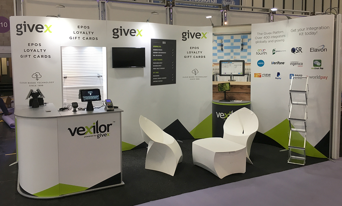Givex shell scheme stand